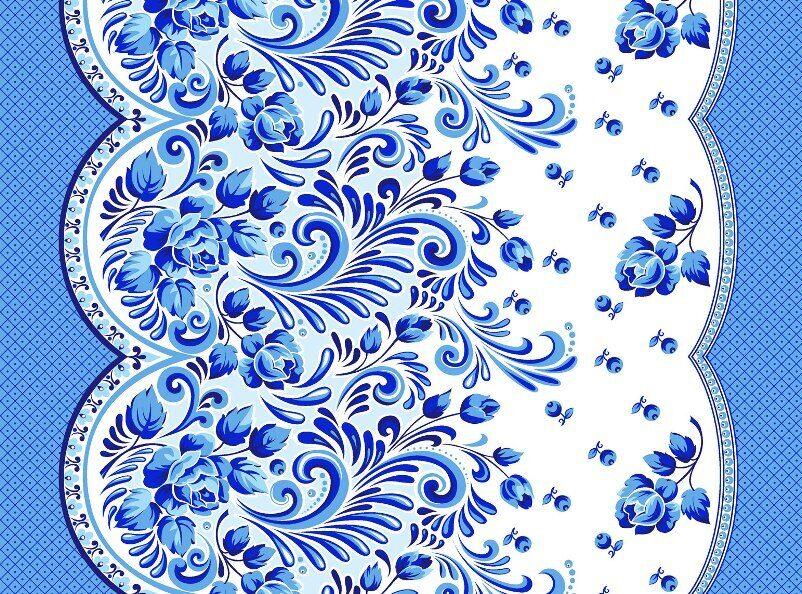 ткань рисунок гжель: www.tarejake.ru/8524.html